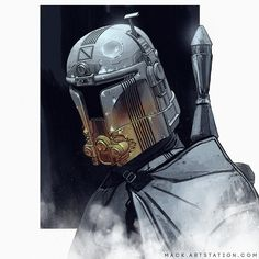 Mandalorian Concept Art - Created by Mack Sztaba Star Wars Fan Art, Star Wars Concept Art, Akira Poster, Mandalorian Cosplay, Video Game Posters, Space Cowboys, Poster Series, Character Design, Character Reference
