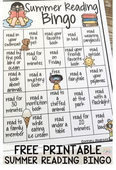Reading Bingo Free Printable Summer Reading BingoFree Free may refer to: Reading Bingo, Kids Reading, Reading Activities, Home Reading, Homework Bingo, Reading Projects, Reading Games, Reading Lists, Book Lists