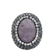 QVC Steel by Design Stainless Faceted Onyx Gemstone and Crystal Ring Sz 5 MR060 #SteelbyDesign #Fashion