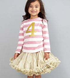 pink and gold number shirt...cute! @Anissa Jacques Stewart Alessia 3 yr photos
