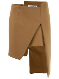 Skirts - something different Pleated Pants, Skirt Pants, Fashion Books, Fashion Outfits, Tulip Skirt, Brown Skirts, Crop Top And Shorts, Tailored Jacket, Asymmetrical Skirt