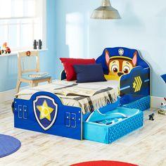 Cama infantil de madera con Patrulla Canina, ideal para complementar un dormitorio de Paw Patrol #bainba #camasinfantiles #mueblesinfantiles #dormitorioinfantil #pawpatrol