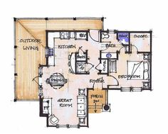 Great apartment layout home sweet home pinterest for Super efficient house plans