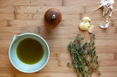 Don't let your leftover herbs go to waste! Make an awesome flavored olive oil instead.