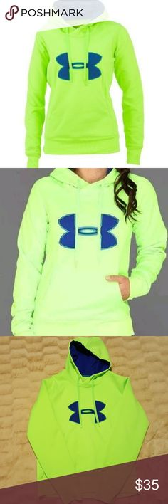 Under Armour hoodie Semi fitted, could possible fit XL. Has a small stain on the left sleeve. Can be unisex.  Only worn a handful of times. Under Armour Tops Sweatshirts & Hoodies
