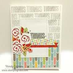 Stamping Rules!: Day 168: Zoe Artistry Thanks Card