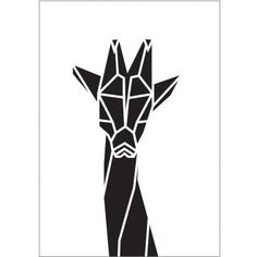 XoEinDing poster // Origami Giraffe A3