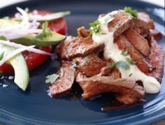 Chipotle Mexican Grill Copycat Recipes: Marinated Steak--this was OK. served with taco soup and a side of tomato and avocado January 2015 Steak Marinade For Grilling, Steak Marinade Recipes, Marinated Steak, Mexican Dishes, Mexican Food Recipes, Spanish Recipes, Sweets Recipes, Yummy Recipes, Yummy Food