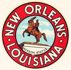 New Orleans Louisiana Jackson Statue 1950s