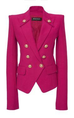 c235e142 Balmain | Moda Operandi. Balmain CoatBalmain BlazerVelvet PantsCotton JacketBusiness  ...