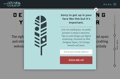 #bits #popup when leaving site #mailinglist