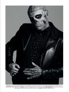Rick Genest para Dress to Kill Magazine por Sylvian Blais