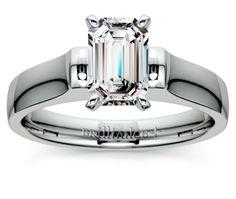 Emerald Square Contour Solitaire Engagement Ring in Platinum  http://www.brilliance.com/engagement-rings/square-contour-solitaire-ring-platinum