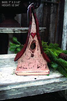 Peachy Pink Decorative Bird House. $45.00, via Etsy.