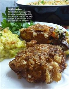 Low Carb Pickle Chicken from Fluffy Chix Cook - part of the 212 page Summer FEAST.