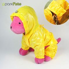 Dog Pocket Raincoat - Yellow - Medium -- Special dog product just for you. Large Dogs, Small Dogs, Dog Raincoat, Yellow Raincoat, Raincoats For Women, Pink Dog, Dog Coats, Pin Image