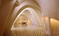 I love the arching ceilings and patterned floor. There is something very serene and reflective about the space.