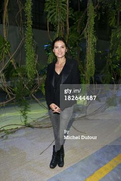 News Photo: Virginie Ledoyen attends the Moncler Gamme Rouge show…