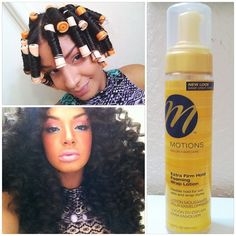@muchmorethanbeauty | For the ladies who want to know for this roller set, she used @MotionsHair Extra Firm Hold Foaming Mousse