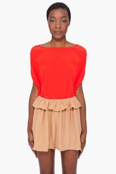 cherry silk tomori blouse // diane von furstenberg