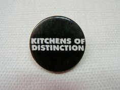 Vintage Late 80s to Early 90s Kitchens of Distinction Logo Pin / Button / Badge by beatbopboom on Etsy