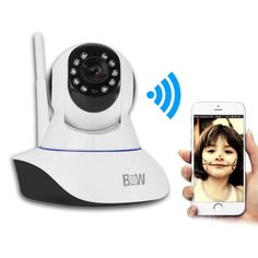 Sunmy Wireless Camera 1080P Pan-Tilt Survillance WiFi Webcam Home Monitor Baby Pet Network Security with Night Vision Alarming Function