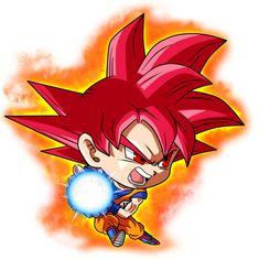 Chibi Goku SSJ God