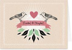 Love Bird Hearts Valentine Card