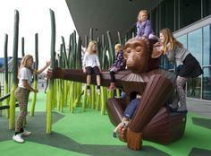 Kloden Playground in Aarhus Park Playground, Playground Design, Outdoor Playground, Playground Ideas, Children Playground, Aarhus, Schmidt, Parc A Theme, Play Equipment
