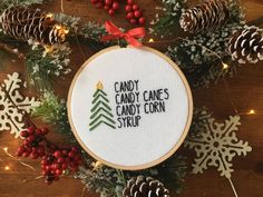 Elf Christmas Cross Stitch - Elf Food Groups - Christmas Ornament Handmade - Buddy the Elf Ornament - Christmas Gift - Elf Movie Quote by houseofmiranda on Etsy