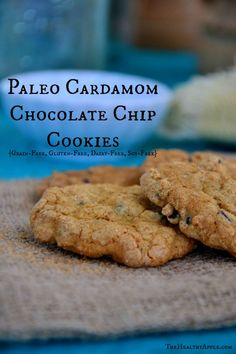 Paleo Cardamom Chocolate Chip Cookies {Grain-Free, Gluten-Free, Dairy-Free, Soy-Free} TheHealthyApple.com #glutenfree #recipe #healthy