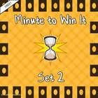 Great class incentive!  Three activities in PowerPoint with instructions and links to the Minute to Win It videos. Have fun!