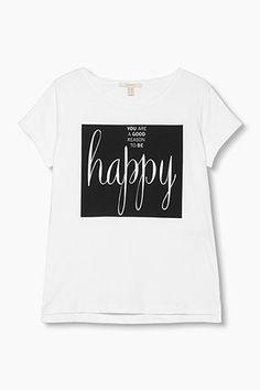 Esprit - T-paita 100 % puuvillaa - netistä Online Shopista