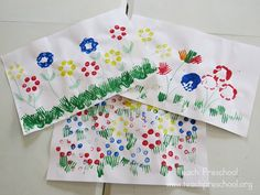 Bright and Beautiful Water Bottle Flower Painting by Teach Preschool