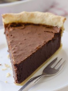 Chocolate Fudge Pie is delicious, rich and decadent homemade chocolate pie, made from scratch! Perfect solution when you need quick and easy dessert!