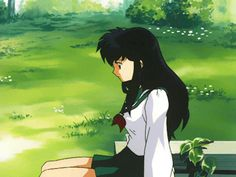 One of my fav female characters! Inuyasha And Sesshomaru, Kagome Higurashi, Kagome And Inuyasha, Retro Aesthetic, Aesthetic Anime, Pictures With Meaning, Tamako Love Story, Cartoon Gifs, Bow Wow