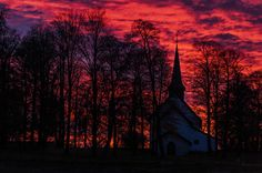 Sunset in Norway - null