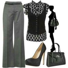Gray work attire