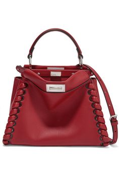 Claret leather (Lamb) Turn lock fastenings at top Weighs approximately 1.5lbs/ 0.7kg Made in Italy