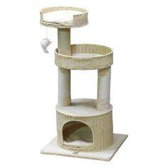 Go Pet Club 44 in. Handcrafted PE Rattan Wicker Cat Tree - SF088