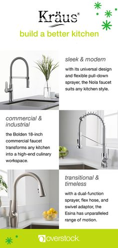 'Tis the season to treat your kitchen to a quick update before tackling those holiday feasts. Check out our full selection of Kräus kitchen faucets today, including these beautiful designs. Only at Overstock.com!