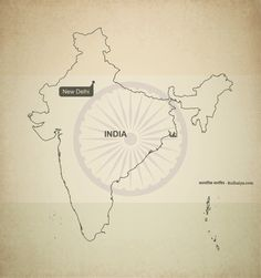 Free vector map of India outline Map Vector, Vector Format, Vector Free, Print Design, Web Design, Graphic Design, India Country, Image Hd, India Map
