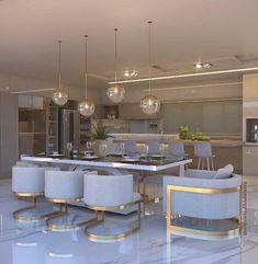 45 Adorable Kitchen Design Ideas Luxury Kitchens Adorable Design Ideas Kitchen in 2019 Luxury Kitchen Design, Kitchen Room Design, Luxury Kitchens, Dining Room Design, Home Decor Kitchen, Interior Design Kitchen, Kitchen Dinning, Luxury Interior Design, Dining Table