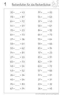 Platzhalteraufgaben im ZR bis 100 (Lernstübchen)