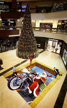 Amazing 3D Sidewalk Chalk - Santa's Coming