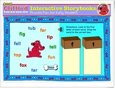El juego de las letras de Clifford (Educación Infantil) Activity Centers, Literacy Centers, Dog Boots, Interactive Stories, Early Readers, Red Dog, Literacy Activities, Phonics, Family Guy