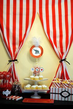 Great idea for curtains around the dessert table!