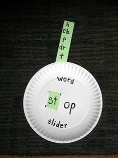 "Make learning word families more hands-on and interactive with this simple craft that has your child making ""word sliders"" out of paper plates."