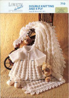 Loweth Wools 710 Vintage Knitting Pattern  by PatternaliaVintage