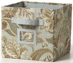 Another cute fabric covered storage bin...